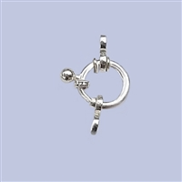 Sterling Silver Fancy Spring Ring 10mm