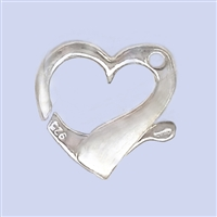 Sterling Silver Heart Lobster - Horizontal 20x20mm