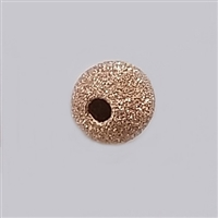 Rose Gold Filled Stardust Bead - 8mm