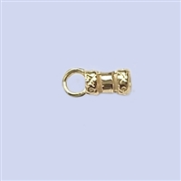 18k Gold over Sterling Silver Crimp End - Designed 2mm #2