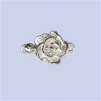 Sterling Silver Flower Shape Clasp - 8mm