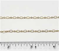GFC801F <BR> Small Fancy Long & Short Chain (Flat Wire) 2.5mm