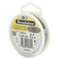 "19 Strand .010"" Beadalon Beading Wire 30 Foot Spool"