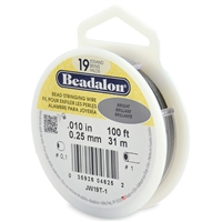 "19 Strand .010"" Beadalon Beading Wire 100 Foot Spool"