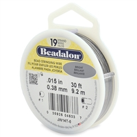 "19 Strand .015"" Beadalon Beading Wire 30 Foot Spool"