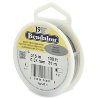 "19 Strand .015"" Beadalon Beading Wire 100 Foot Spool"