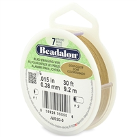 "7 Strand .015"" Gold Plated Beadalon Beading Wire 30 Foot Spool"