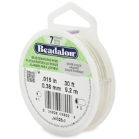 "7 Strand .015"" Silver Plated Beadalon Beading Wire 30 Foot Spool"