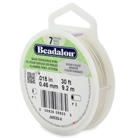 "7 Strand .018"" Silver Plated Beadalon Beading Wire 30 Foot Spool"
