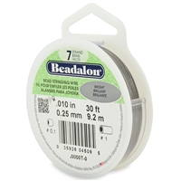 "7 Strand .010"" Beadalon Beading Wire 30 Foot Spool"