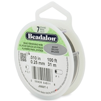 "7 Strand .010"" Beadalon Beading Wire 100 Foot Spool"