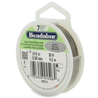 "7 Strand .015"" Beadalon Beading Wire 30 Foot Spool"
