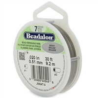 "7 Strand .020"" Beadalon Beading Wire 30 Foot Spool"
