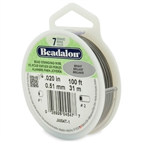 "7 Strand .020"" Beadalon Beading Wire 100 Foot Spool"