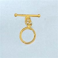 STG-02 12mm Ring. Gold Plated over Sterling Silver