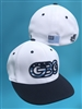 GBG White Game Hat Flag Logo