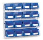 16 Bin Storage Bins & Louvre Panel