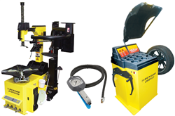 Dunlop tyre changer and wheel balancer package
