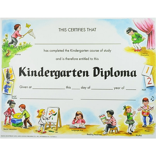 Kindergarten Awards Certificates: Kindergarten Diploma