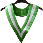 Triple Colour V-Stoles - Emerald Green/White/Emerald Green