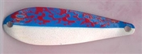 Finish 142<br>MOTTLED BLUE / RED