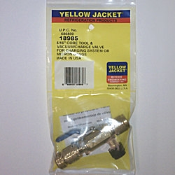 "Yellow Jacket 18985 4-In-1 Ball Valve Tool 5/16"" with Side Port"