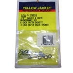 "Yellow Jacket 19010 Replacement 1/4"" Gasket (6 Pak) And Valve Depressor (3 Pak)"