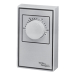 White Rodgers 1A65-641 Beige Line Voltage Wall Thermostat, SPST, Open On Rise (No Thermometer)
