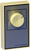 White Rodgers 1A66-641 Beige Line Voltage Wall Thermostat w/ OFF Position, DPST, Open On Rise (No Thermometer)