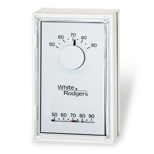 White Rodgers 1E30N-910 Single Stage Mechanical Thermostat, Vertical,  Mercury Free(Heat Only)