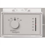 White Rodgers 1F56N-444 Non-Programmable, 1H/1C, Mechanical Thermostat w/ 3-Wire Zone Mounting Plate