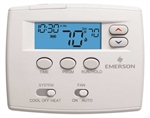 White Rodgers 1F80-0224 24 Hour Programmable Blue Thermostat, 1/1 Single Stage