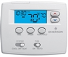White Rodgers 1F80-0261 5+1+1 Day Programmable Blue Thermostat, 1/1 Single Stage