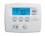 White Rodgers 1F82-0261 5+1+1 Day Programmable Blue Thermostat, 2/1HP