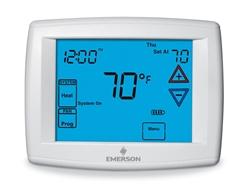 White Rodgers 1F95-1280 Blue Touchscreen Commercial Multi-Stage, or Heat Pump, 7-Day programmable Digital Thermostat