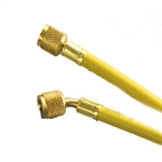"Yellow Jacket 21012 Plus II 1/4"" Str x 1/4"" 45 Deg Yellow Hose 12"""