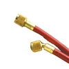 "Yellow Jacket 21660 Plus II 1/4"" Str x 1/4"" 45 Deg Red Hose 60"""