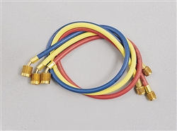 "Yellow Jacket 22984 Plus II 1/4"" Hose with 45 Deg SealRight Fitting 3pk 48"""