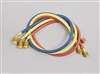 "Yellow Jacket 22988 Plus II 1/4"" Hose with 45 Deg SealRight Fitting 3pk 96"""