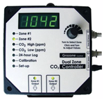 GROZONE CO2D 0-5000 PPM DUAL ZONE CO2 CONTROLLER