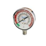 "Yellow Jacket 40201 2-1/2"" Ammonia Gauge, Twist On Polycarb Crystal, 30""-0-400 Psi °F"