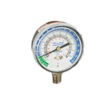 "Yellow Jacket 40202 2-1/2"" Ammonia Gauge, Twist On Polycarb Crystal, 30""-0-150 Psi °F"