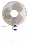 "OSCILLATING WALL MOUNT FAN 16"" 3 SPEED"