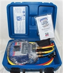Yellow Jacket 40815 Refrigeration System Analyzer w/ Titan 4-Valve Manifold & Plus II Charging Hoses