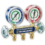 "Yellow Jacket 41223 Series 41 Manifolds w/2-1/2"" Gauges, 36"" Ryb, Kpa/Psi, R-12/22/502"