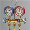 "Yellow Jacket 42024 Series 41 Manifolds with 3-1/8"" Gauges With 60"" PLUS II standard fittings, bar/psi, R-410A"