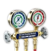 Yellow Jacket 42436 Series 41 Deluxe Manifold w/Class 1 Brass Gauge, Psi, R-22/134a/404A