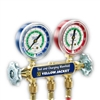 "Yellow Jacket 43365 Series 41 Manifold w/2-1/2"" Gauge, Plus II Std. Fittings, Psi, R-134A/404A/507"