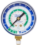 "Yellow Jacket 49014 2 1/2"" Gauge (°F), Blue Compound, 30""-0-120** Psi, R-12/22/134A"