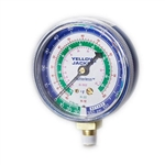"Yellow Jacket 49052 2 1/2"" Gauge (°F), Blue Compound, 30""-0-120 Psi, R-134A/404A/507"